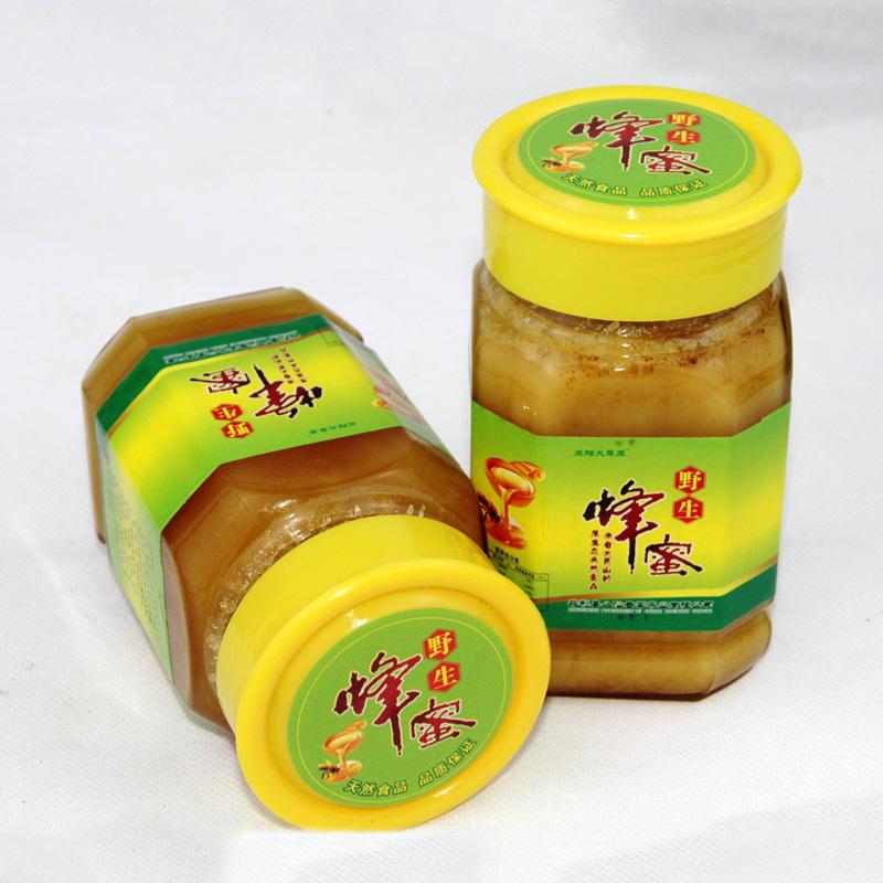 秦岭高山农家深山野生土蜂蜜500g瓶装