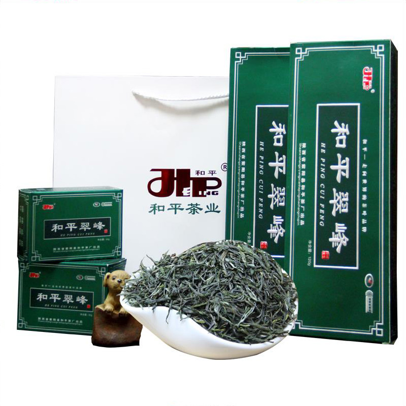 2018新茶 和平三级翠峰富硒绿茶 和平茶业礼条装