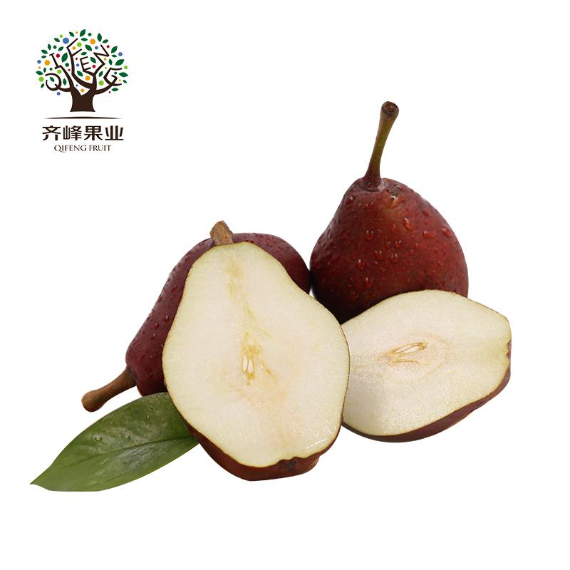 陕西秦岭红啤梨5斤 新鲜红皮梨太婆梨