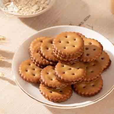 红谷林 麦芽糖夹心小圆饼干 办公室零食